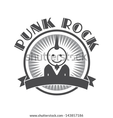 punk rock user picture - stock vector