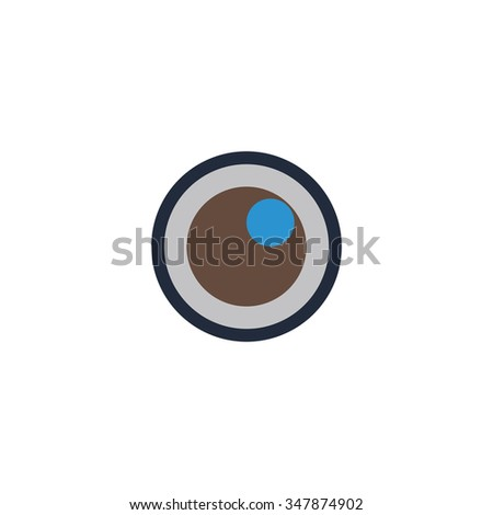 pupil Color vector icon on white background