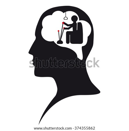Puppet. Captain in mind - stock vector