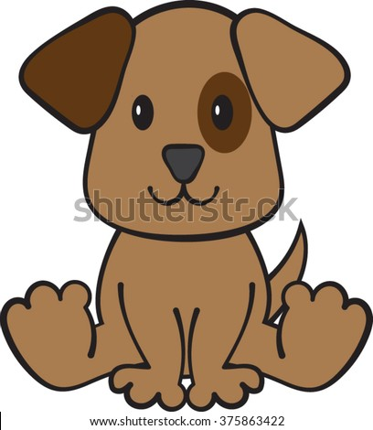 puppy dog clipart vector illustration stock vector 375863422 rh shutterstock com cute puppy dog clipart sad puppy dog clipart