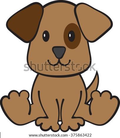 puppy dog clipart vector illustration stock vector hd royalty free rh shutterstock com sad puppy dog clipart puppy dog pals clipart