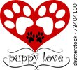 Puppy Love, A simple graphic for dog lovers - stock vector
