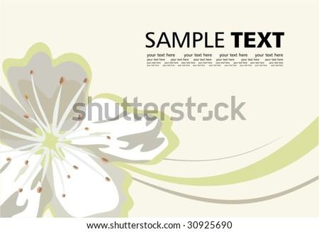Pure blossom - stock vector