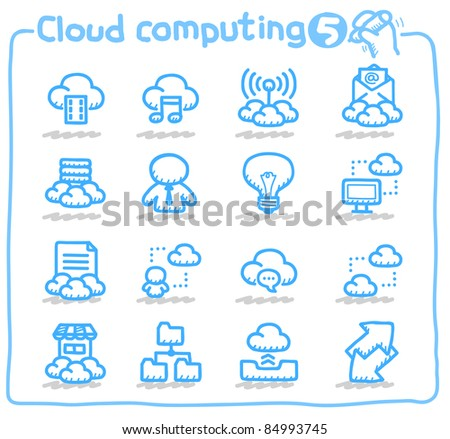 Pure series | cloud computing,communication,internet,business,network icon set - stock vector