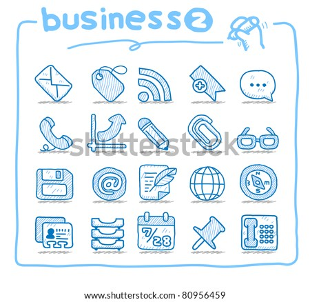 Pure series | Hand drawn business icon - stock vector