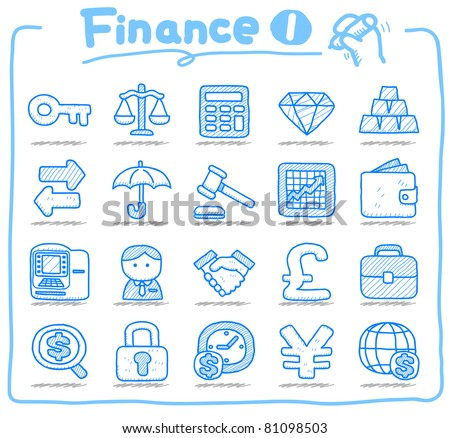 Pure series | Hand drawn Finance icon - stock vector