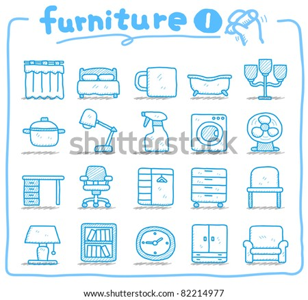 Pure series | hand drawn furniture icon - stock vector