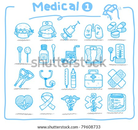 Pure series | hand drawn medical icons