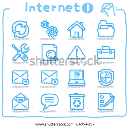 Pure series | internet,business,communication icon set - stock vector
