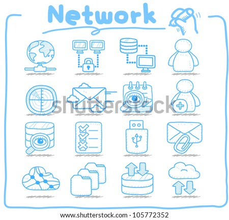 Pure Series | Network,Business,Internet icon set - stock vector