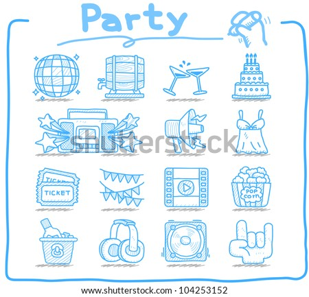 Pure Series | Party,Celebration,Holiday icon set - stock vector