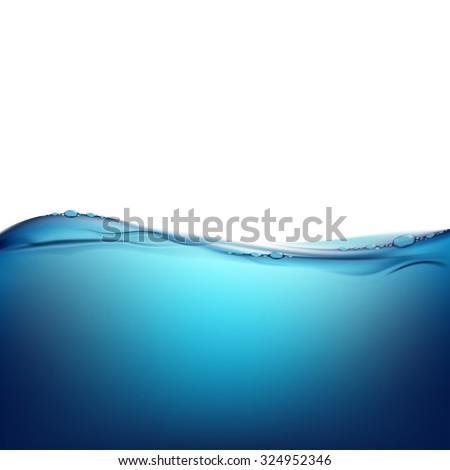 Pure water. Natural background. Stock vector image. - stock vector