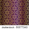 Purple and gold seamless arabesque (Eps10); - stock vector