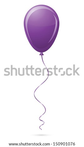 purple balloon vector illustration isolated on white background