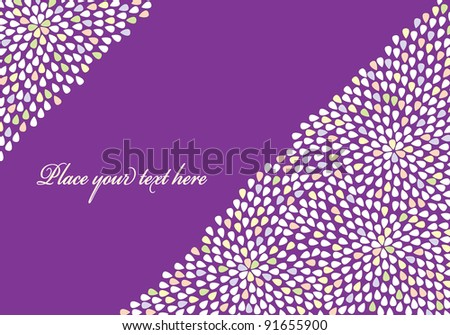 Purple floral background with place for text. - stock vector