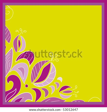 Purple frame with floral pattern
