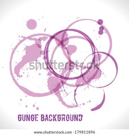 Purple Grunge Background - stock vector