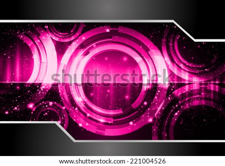 Purple Light Abstract Technology background for computer graphic website and internet