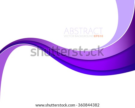 Purple line vector background curve gradient colour with white space for text and message design - stock vector