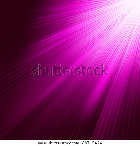 Purple luminous rays. EPS 8 vector file included - stock vector