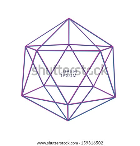 Purple - magenta edition of a scalable 3d vector lattice vector composition of an edgy abstract geometric minimal background or banner for layout design, for print, or for universal use - stock vector