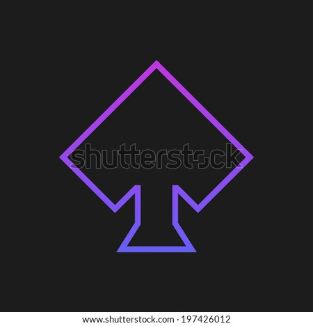 Purple rustrakehner color peaks on a black screen - stock vector