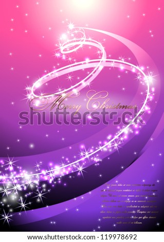 Purple vector christmas background - stock vector