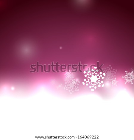 Purple vector snow Christmas background - stock vector