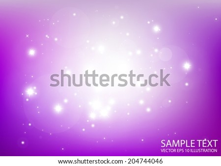 Purple vector space background illustration - Vector abstract purple sparkle background template - stock vector