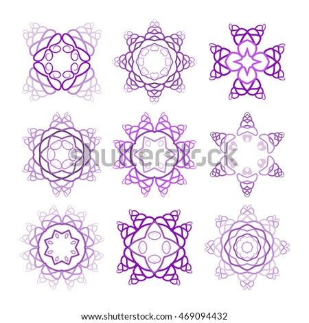pink mandala set pattern arabesque geometric stock vector 459462508 shutterstock. Black Bedroom Furniture Sets. Home Design Ideas