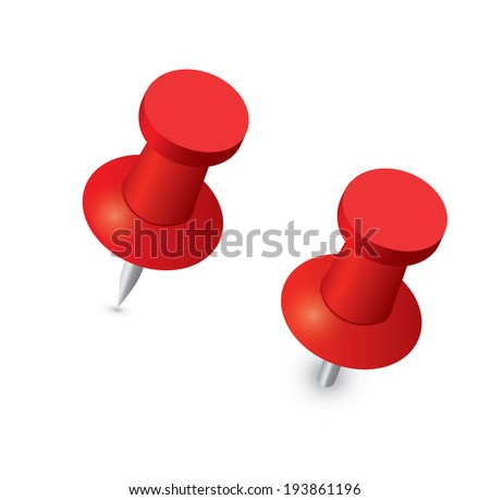 Push pin - stock vector