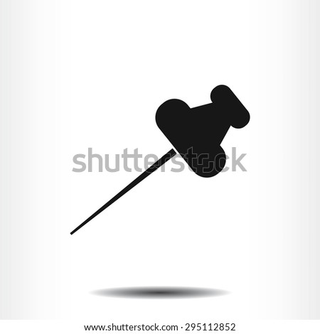 pushpin icon - stock vector