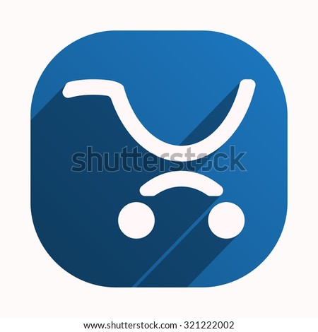 put in shopping cart. icon. vector design - stock vector