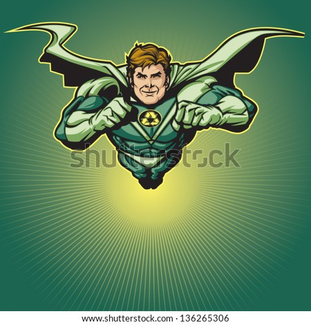 Put your own logo on his chest! Layered & easy to edit. See portfolio for simular images. - stock vector
