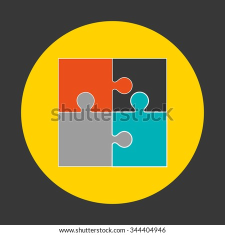 puzzle assembling design, vector illustration eps10 graphic  - stock vector