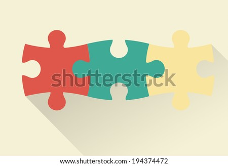 Puzzle flat vector illustration