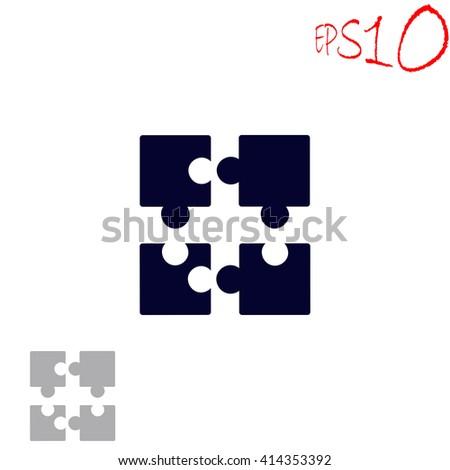 Puzzle icon. Puzzle vector. Puzzle illustration. Puzzle icon logo. Puzzle icon Eps10. Puzzle icon web. Puzzle icon sign. Puzzle icon art. Puzzle icon image. Puzzle icon UI. Puzzle icon flat. - stock vector