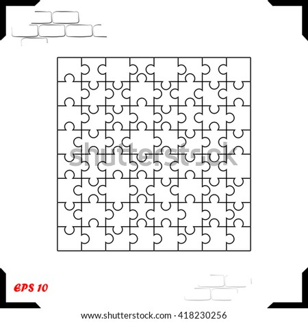 Puzzle icon. Simple black vector symbol. Logo for web. Image for business. - stock vector