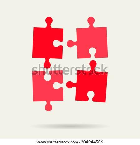 Puzzle icon, vector illustration  - stock vector