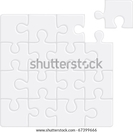 Puzzle pattern (removable pieces). Vector illustration - stock vector