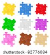 Puzzle Patterns - stock vector