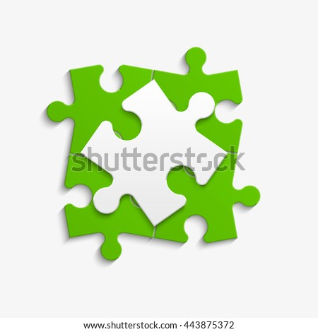 Puzzle piece icon. Abstract background. vector illustration