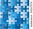puzzle (Pieces removable) - stock photo