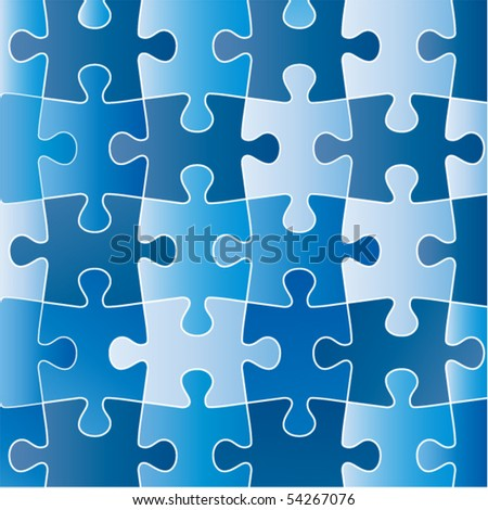 puzzle (Pieces removable) - stock vector