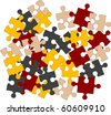 puzzle pieces. vector illustration for design - stock photo