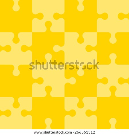 Puzzle seamless pattern. Vector illustration. - stock vector