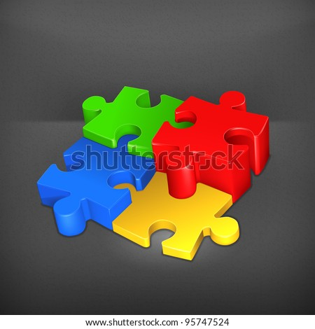 Puzzle, vector - stock vector