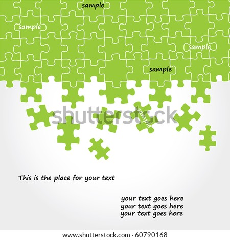 Puzzle vector design - stock vector