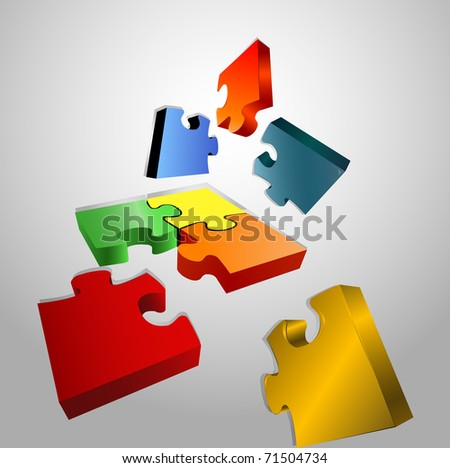 puzzle vector illustration - stock vector