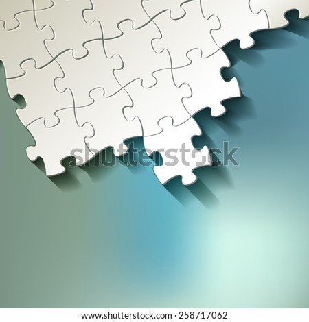 PUZZLE white on bokeh background